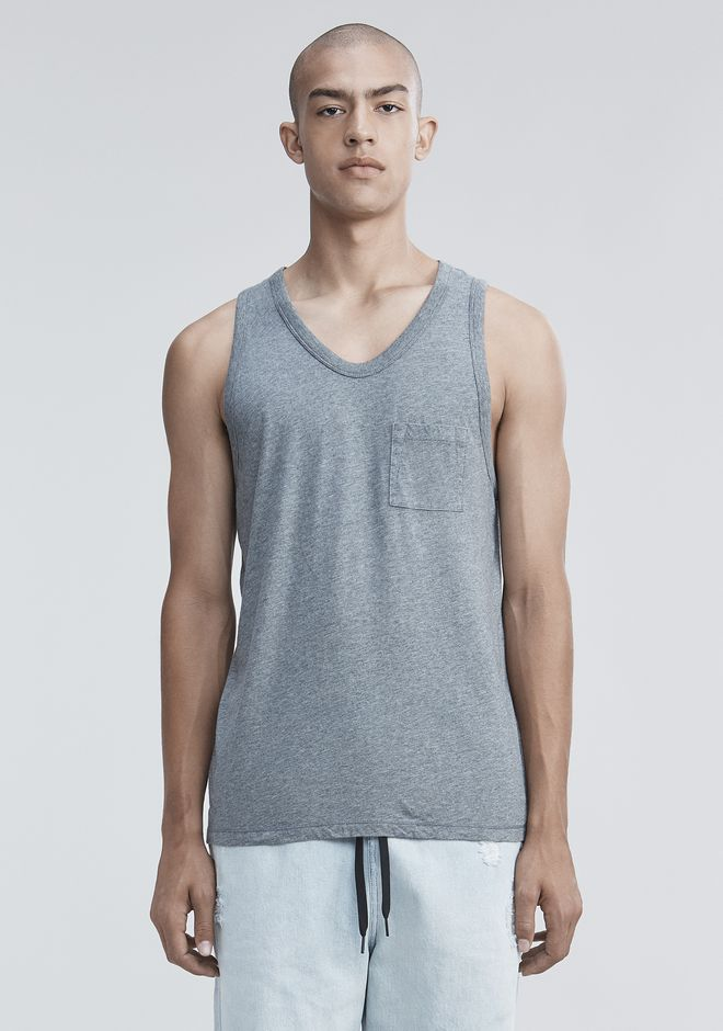 T by ALEXANDER WANG mens-classics CLASSIC TANK WITH POCKET