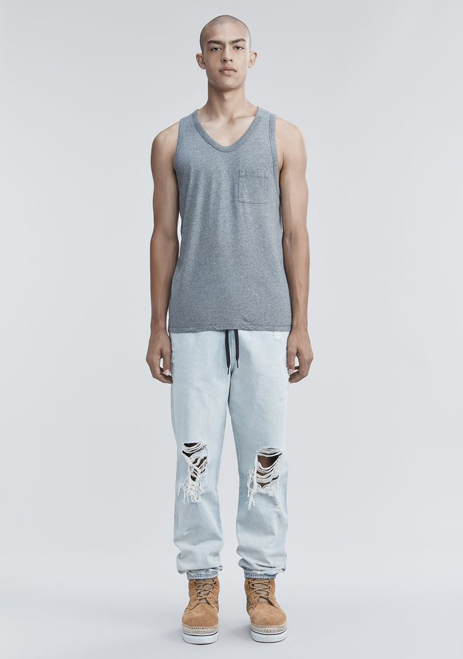 T by ALEXANDER WANG CLASSIC TANK WITH POCKET TANK Adult 12_n_f