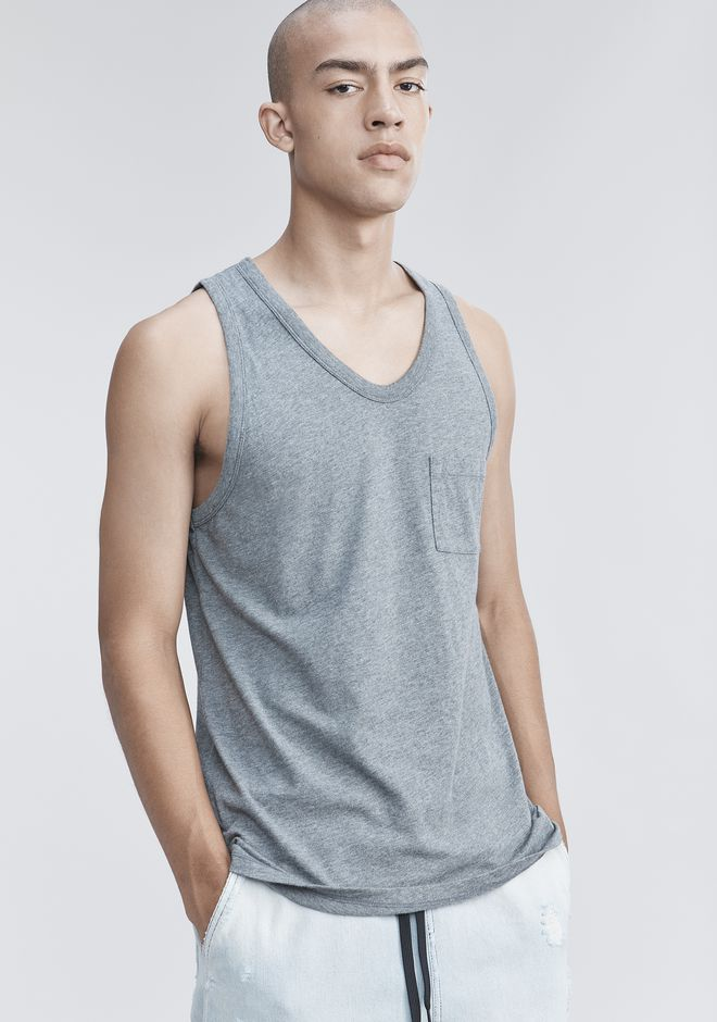 T by ALEXANDER WANG CLASSIC TANK WITH POCKET TANK Adult 12_n_r