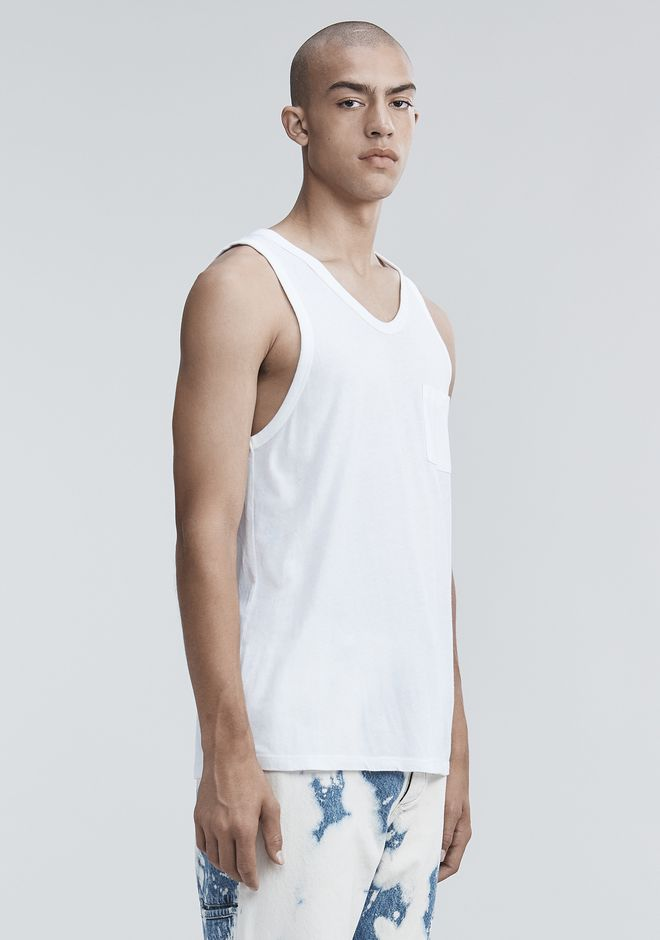 T by ALEXANDER WANG CLASSIC TANK WITH POCKET TANK Adult 12_n_a