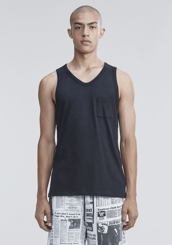 T by ALEXANDER WANG CLASSIC TANK WITH POCKET TANK Adult 12_n_e