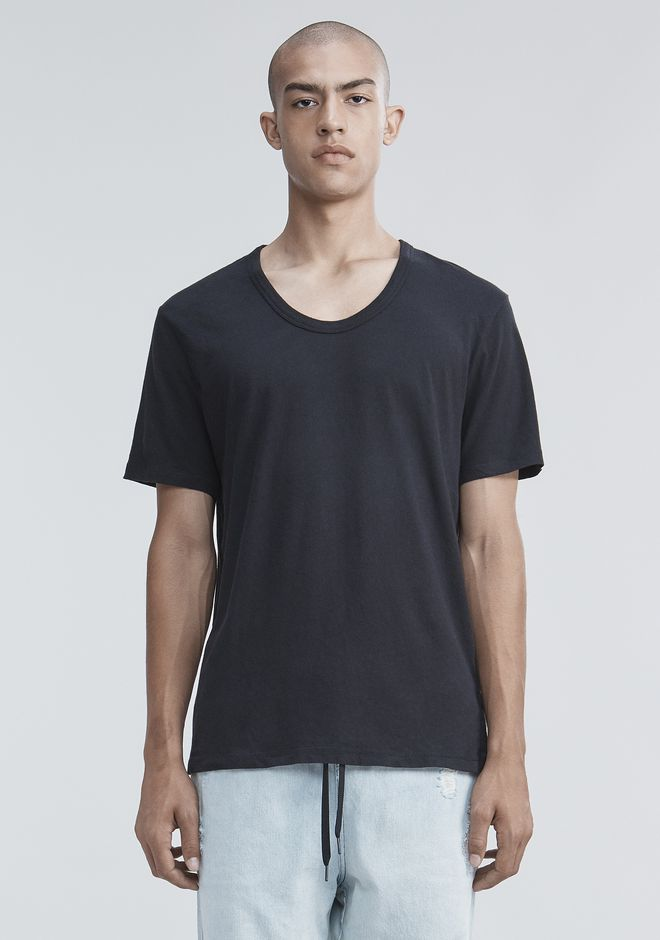 T by ALEXANDER WANG TEES Men CLASSIC LOW NECK TEE