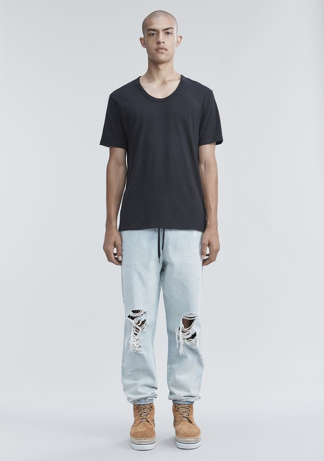 T by ALEXANDER WANG CLASSIC LOW NECK TEE TEE Adult 12_n_f