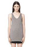 T by ALEXANDER WANG CLASSIC TANK WITH POCKET TOP Adult 8_n_e