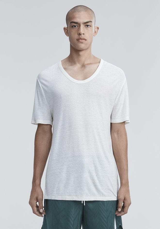 T by ALEXANDER WANG TEES Men SLUB RAYON SILK LOW NECKTEE