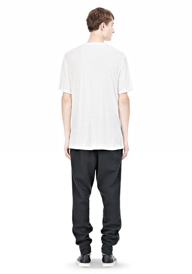 T by ALEXANDER WANG SLUB RAYON SILK LOW NECKTEE TEE Adult 12_n_r