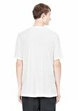 T by ALEXANDER WANG SLUB RAYON SILK LOW NECKTEE TEE Adult 8_n_d