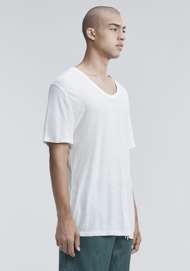 T by ALEXANDER WANG SLUB RAYON SILK LOW NECKTEE TEE Adult 12_n_a