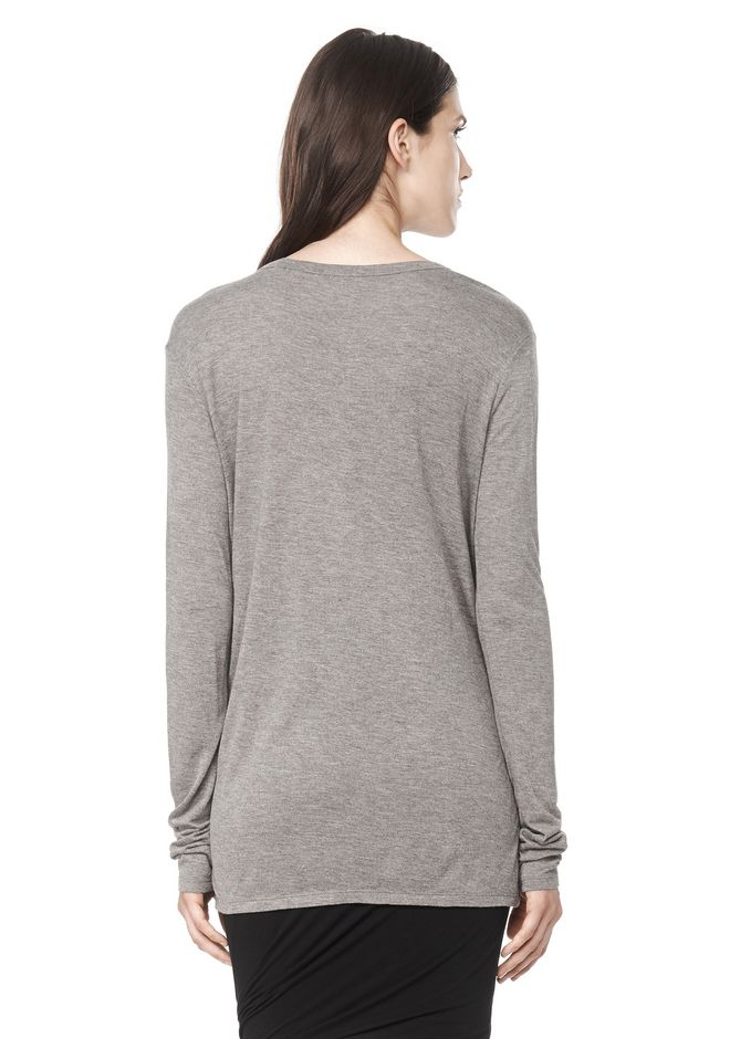 T by ALEXANDER WANG CLASSIC LONG SLEEVE TEE WITH POCKET Long sleeve t-shirt Adult 12_n_d