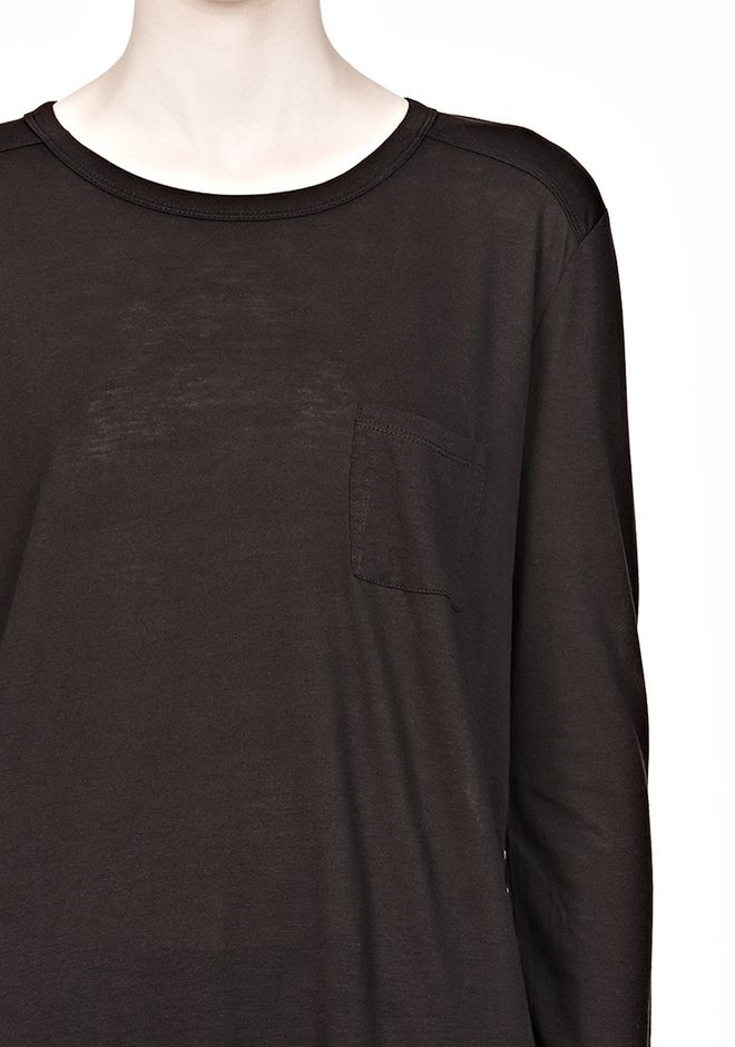 T by ALEXANDER WANG CLASSIC LONG SLEEVE TEE WITH POCKET Long sleeve t-shirt Adult 12_n_a