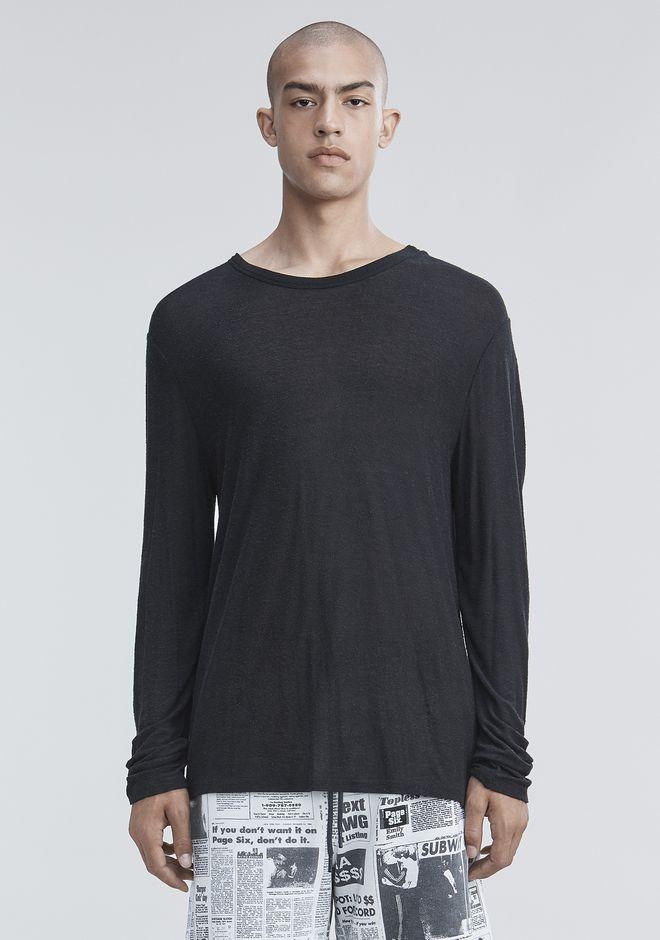 T by ALEXANDER WANG SLUB RAYON SILK LONG SLEEVE TEE Long sleeve t-shirt Adult 12_n_e