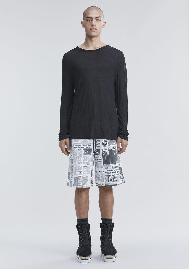 T by ALEXANDER WANG SLUB RAYON SILK LONG SLEEVE TEE Long sleeve t-shirt Adult 12_n_f