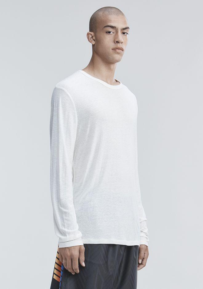 T by ALEXANDER WANG SLUB RAYON SILK LONG SLEEVE TEE Long sleeve t-shirt Adult 12_n_a