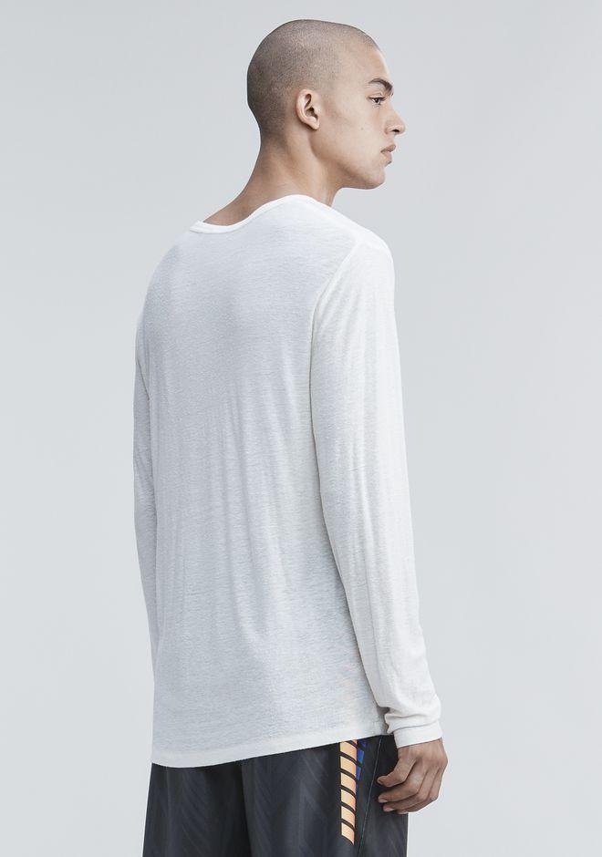 T by ALEXANDER WANG SLUB RAYON SILK LONG SLEEVE TEE Long sleeve t-shirt Adult 12_n_d