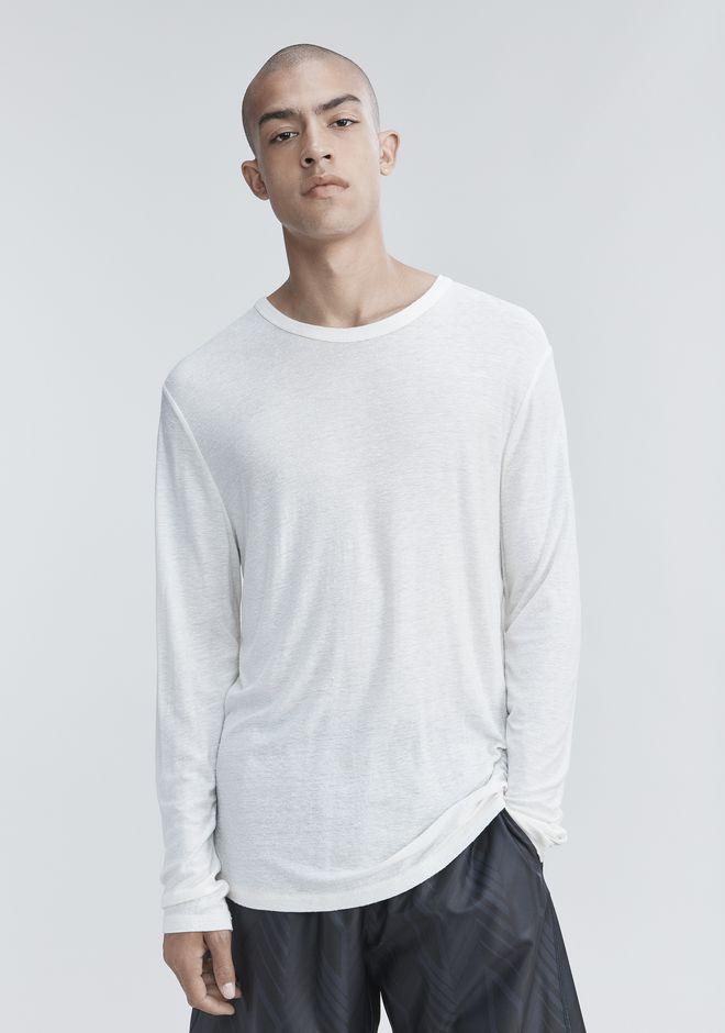 T by ALEXANDER WANG SLUB RAYON SILK LONG SLEEVE TEE Long sleeve t-shirt Adult 12_n_r