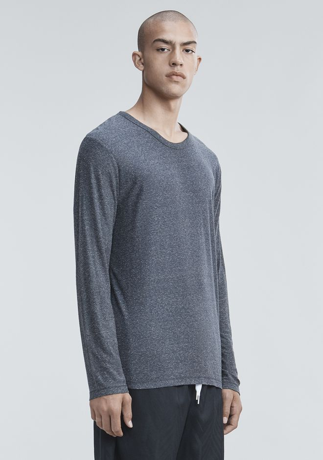 T by ALEXANDER WANG SLUB RAYON SILK LONG SLEEVE TEE Long sleeve t-shirt Adult 12_n_a
