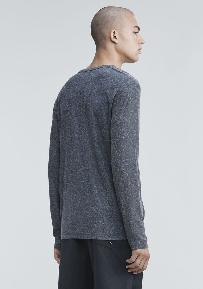 T by ALEXANDER WANG SLUB RAYON SILK LONG SLEEVE TEE LONG SLEEVE TEE Adult 12_n_d
