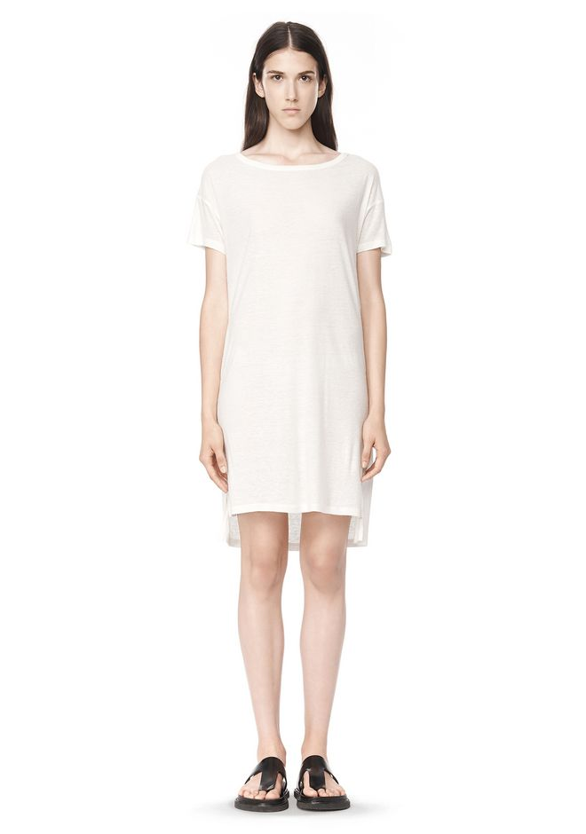 T by ALEXANDER WANG Short Dresses SLUB CLASSIC BOATNECK DRESS