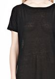 T by ALEXANDER WANG SLUB CLASSIC BOATNECK DRESS  Short Dress Adult 8_n_a