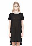 T by ALEXANDER WANG SLUB CLASSIC BOATNECK DRESS  Short Dress Adult 8_n_e