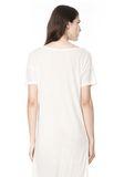 T by ALEXANDER WANG SLUB CLASSIC BOATNECK DRESS  Short Dress Adult 8_n_d