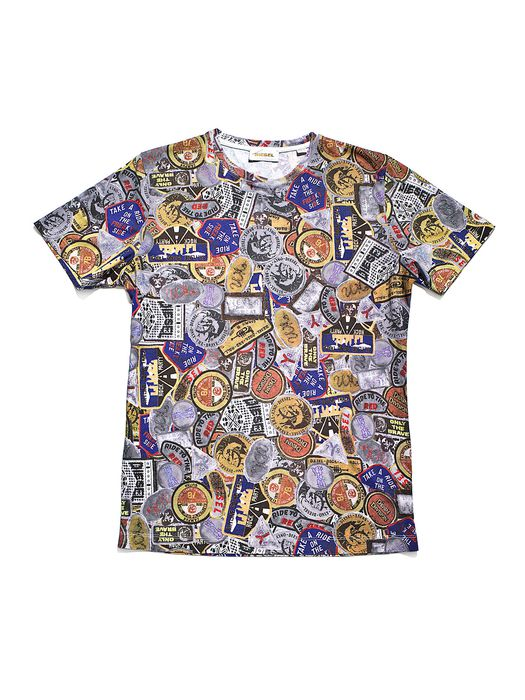 DIESEL REBOOT-DENIM-T-SHIRT T-Shirt U e