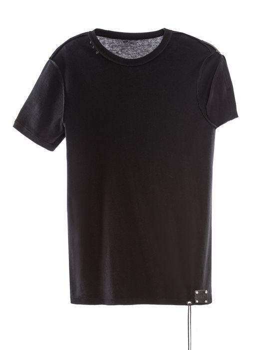 DIESEL REBOOT-BLACK-T-SHIRT T-Shirt U f