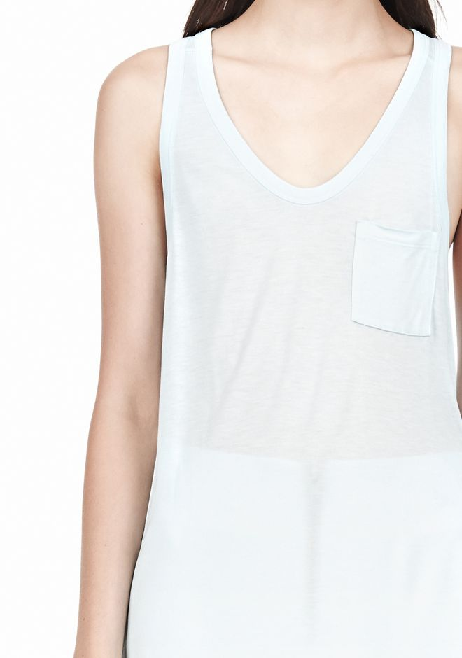 T by ALEXANDER WANG TANK WITH POCKET TOP Adult 12_n_a