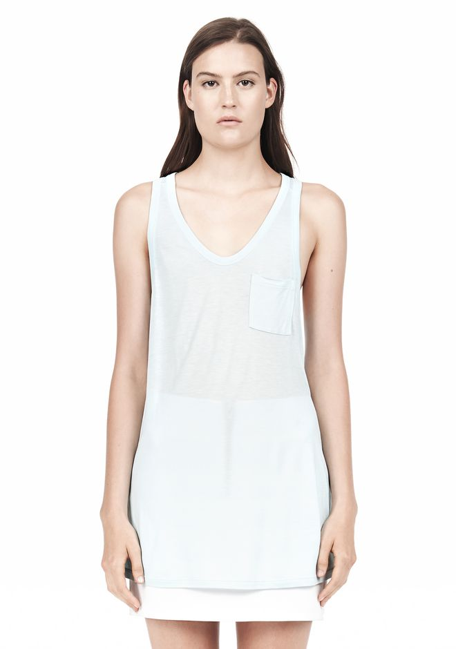 T by ALEXANDER WANG TANK WITH POCKET TOP Adult 12_n_e