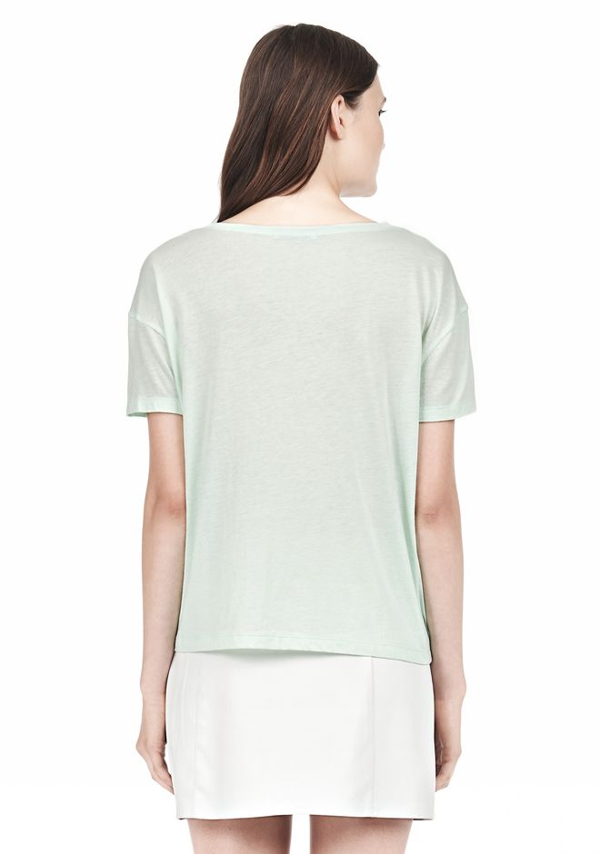 T by ALEXANDER WANG SINGLE JERSEY SHORT SLEEVE TEE Short sleeve t-shirt Adult 12_n_d
