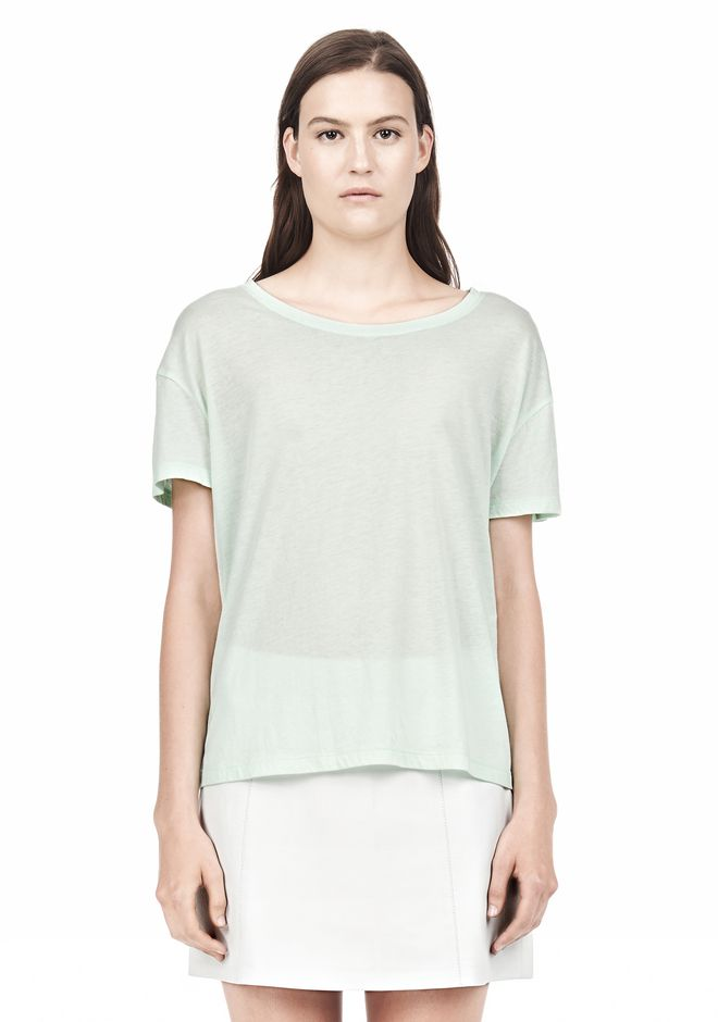 T by ALEXANDER WANG SINGLE JERSEY SHORT SLEEVE TEE Short sleeve t-shirt Adult 12_n_e
