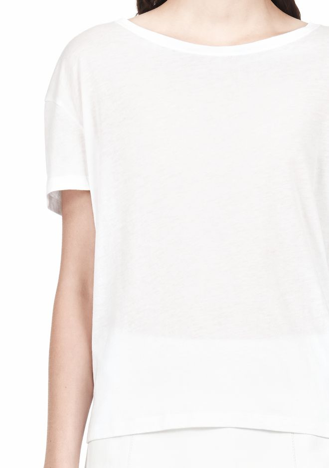 T by ALEXANDER WANG SINGLE JERSEY SHORT SLEEVE TEE Short sleeve t-shirt Adult 12_n_a