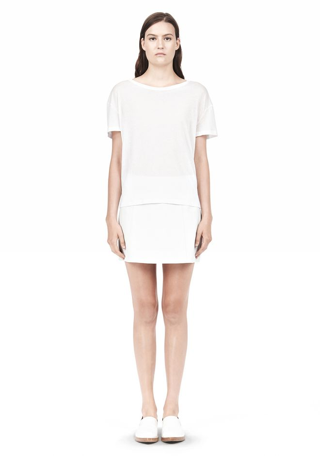 T by ALEXANDER WANG SINGLE JERSEY SHORT SLEEVE TEE Short sleeve t-shirt Adult 12_n_f