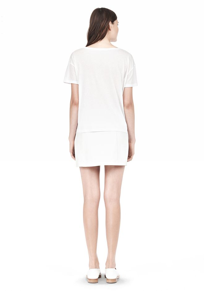 T by ALEXANDER WANG SINGLE JERSEY SHORT SLEEVE TEE Short sleeve t-shirt Adult 12_n_r