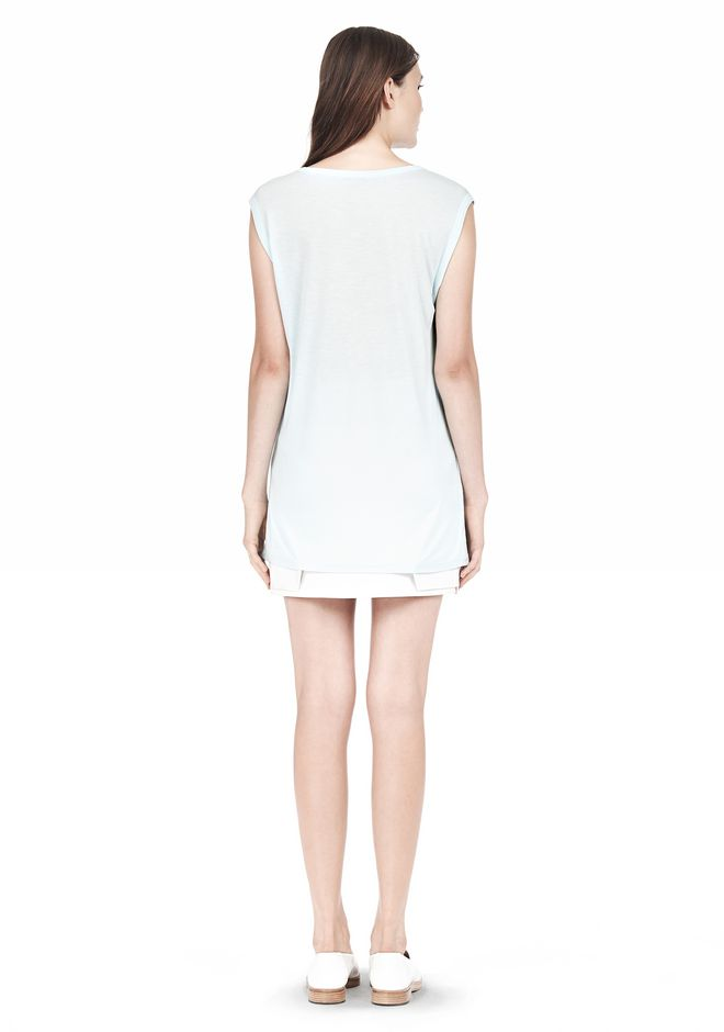 T by ALEXANDER WANG MUSCLE TEE WITH POCKET TOP Adult 12_n_r