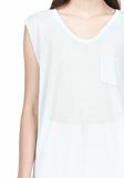 T by ALEXANDER WANG MUSCLE TEE WITH POCKET TOP Adult 8_n_a