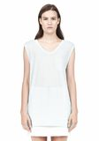 T by ALEXANDER WANG MUSCLE TEE WITH POCKET TOP Adult 8_n_e