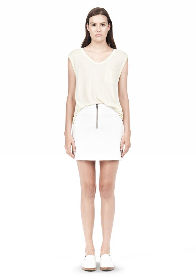 T by ALEXANDER WANG MUSCLE TEE WITH POCKET TOP Adult 12_n_f