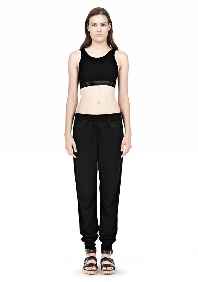 T by ALEXANDER WANG JERSEY SPORTS BRA WITH CUTOUT BACK DETAIL TOP Adult 12_n_f