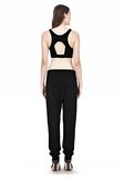 T by ALEXANDER WANG JERSEY SPORTS BRA WITH CUTOUT BACK DETAIL TOP Adult 8_n_r