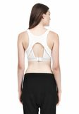 T by ALEXANDER WANG JERSEY SPORTS BRA WITH CUTOUT BACK DETAIL TOP Adult 8_n_d