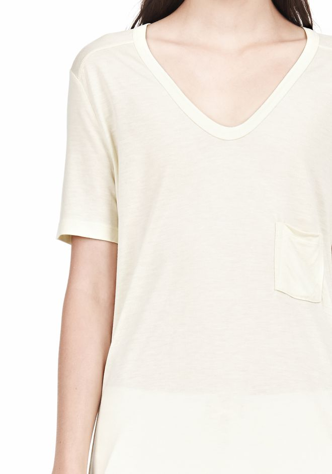 T by ALEXANDER WANG TEE WITH POCKET Short sleeve t-shirt Adult 12_n_a