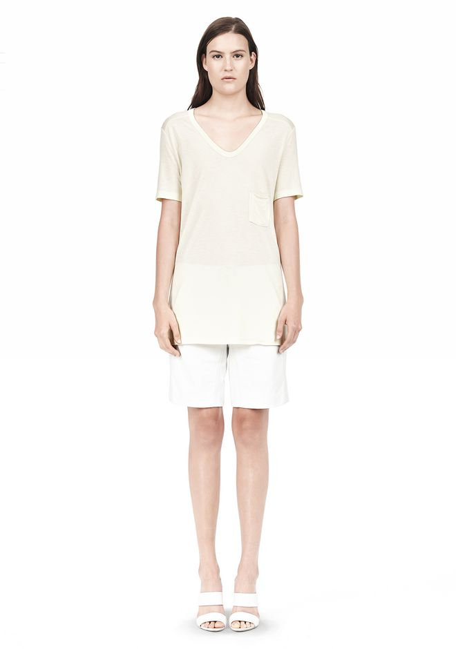 T by ALEXANDER WANG TEE WITH POCKET Short sleeve t-shirt Adult 12_n_f