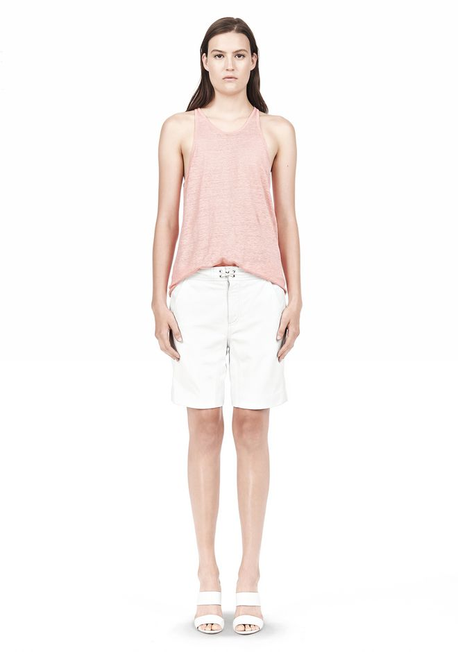 T by ALEXANDER WANG LINEN SILK JERSEY TANK TOP Adult 12_n_f