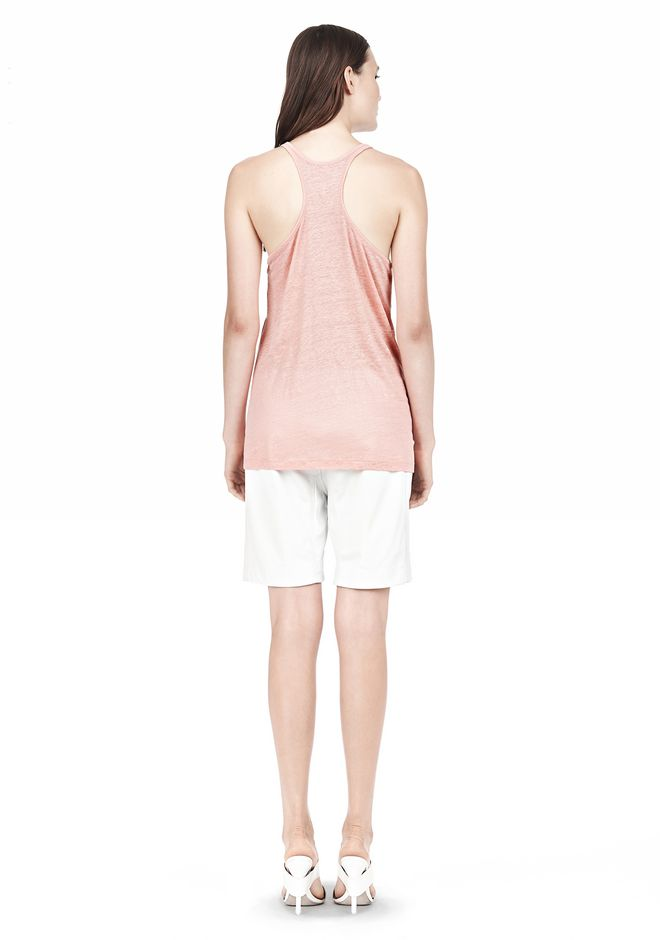 T by ALEXANDER WANG LINEN SILK JERSEY TANK TOP Adult 12_n_r