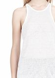 T by ALEXANDER WANG LINEN SILK JERSEY TANK TOP Adult 8_n_a