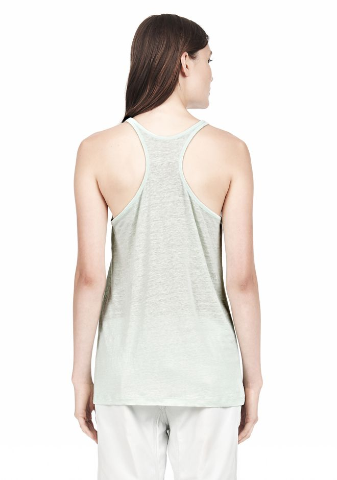 T by ALEXANDER WANG LINEN SILK JERSEY TANK TOP Adult 12_n_d