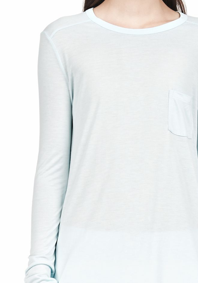 T by ALEXANDER WANG LONG SLEEVE TEE WITH POCKET LONG SLEEVE TEE/DEL Adult 12_n_a
