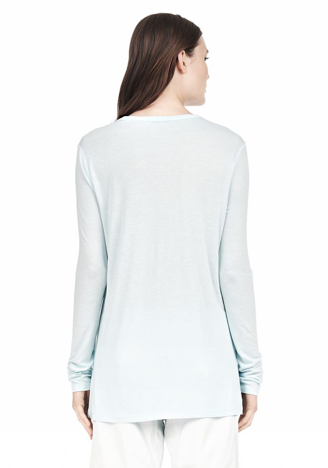 T by ALEXANDER WANG LONG SLEEVE TEE WITH POCKET LONG SLEEVE TEE/DEL Adult 12_n_d