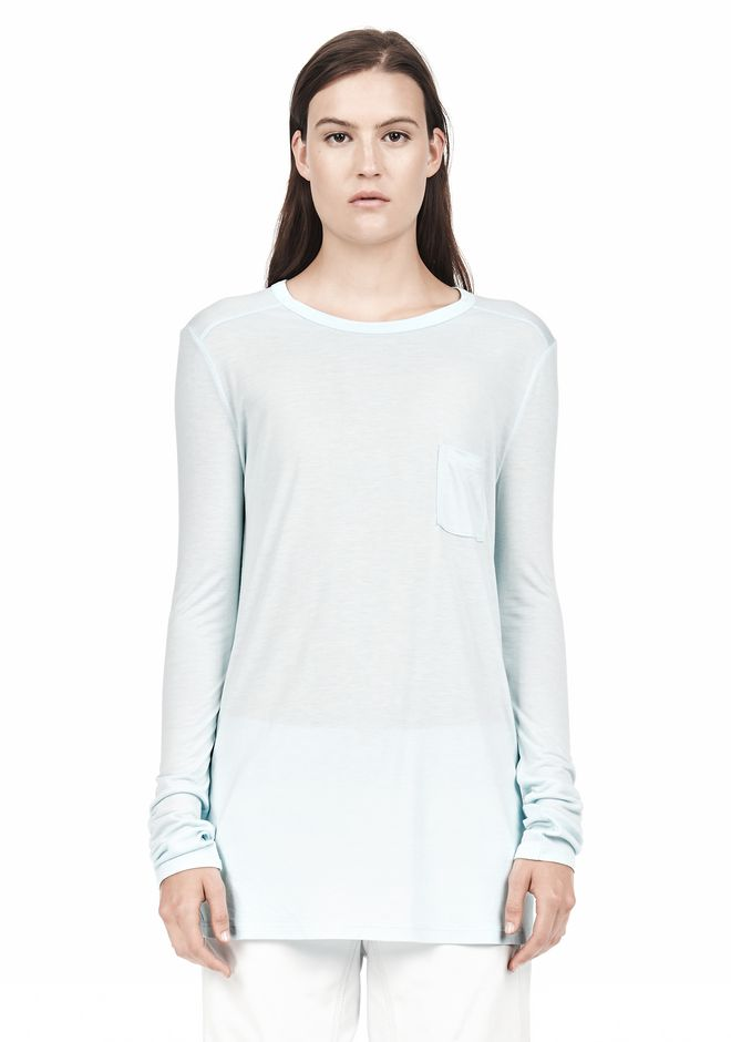 T by ALEXANDER WANG LONG SLEEVE TEE WITH POCKET LONG SLEEVE TEE/DEL Adult 12_n_e